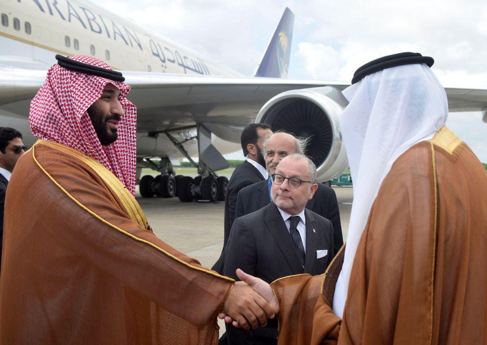 Foto: El príncipe heredero de Arabia Saudí, Mohamed Bin Salman, a su llegada a Buenos Aires. (Reuters)