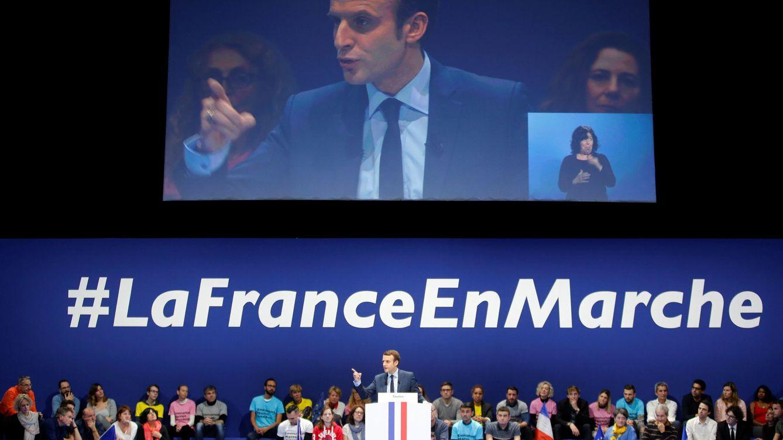 Foto: Emmanuel Macron, líder del movimiento En Marcha, durante un mitin en Toulon, Francia, el 18 de febrero de 2017 (Reuters)