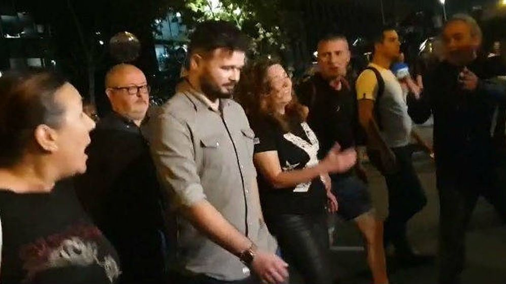 Foto: Gabriel Rufián abandona la marcha de Barcelona entre abucheos