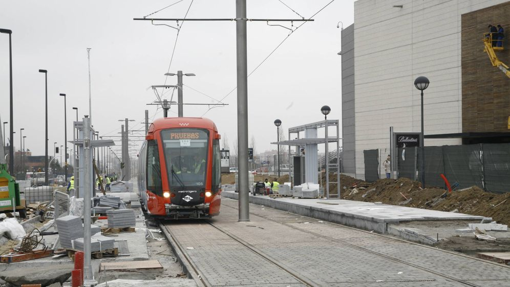 Foto: El tren ligero a Boadilla, cuando estaba en periodo de pruebas.