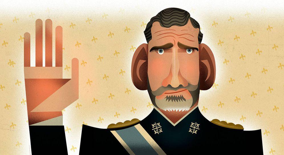 Foto: El rey Felipe VI. (Ilustración: Raúl arias)