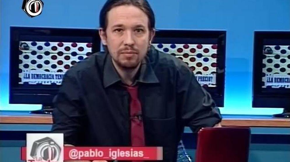 Foto: Pablo Iglesias en 'La Tuerka'