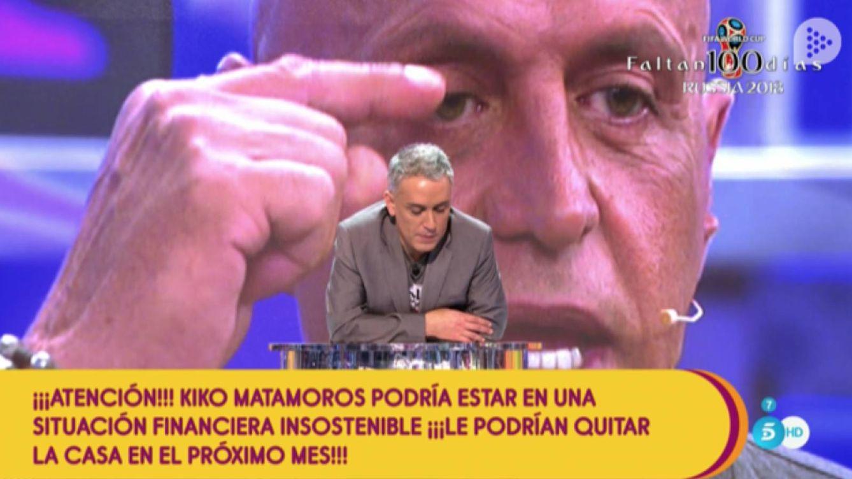 Kiko Matamoros confirma que su deuda con Hacienda asciende a un millón de euros