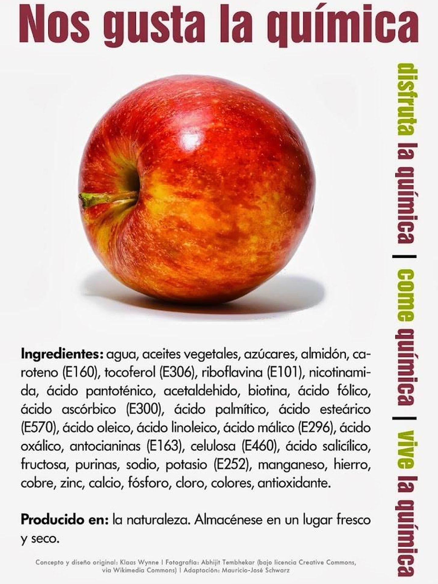 Composición química de la manzana.