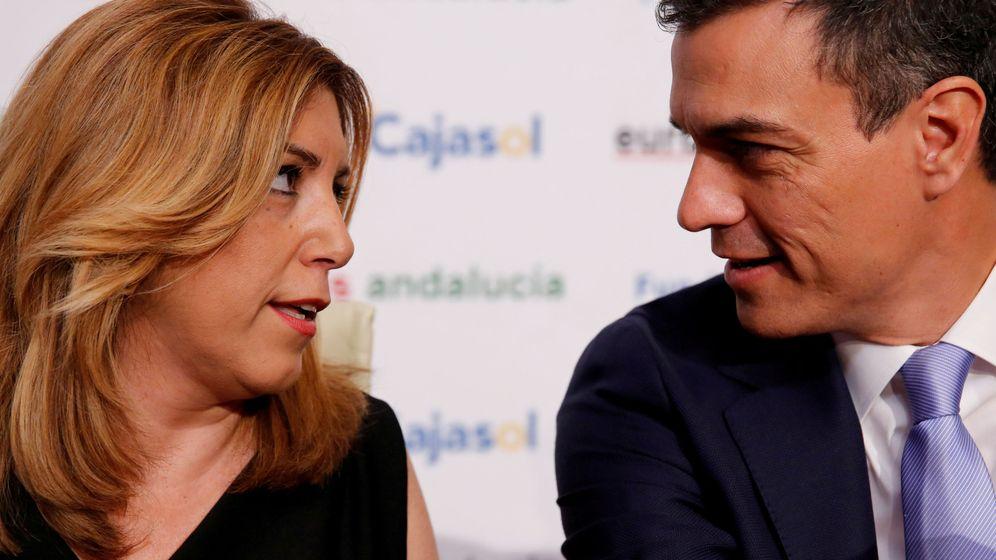 Foto: La presidenta de la Junta de Andalucía, Susana Díaz, junto al presidente del Gobierno, Pedro Sánchez. (Reuters)