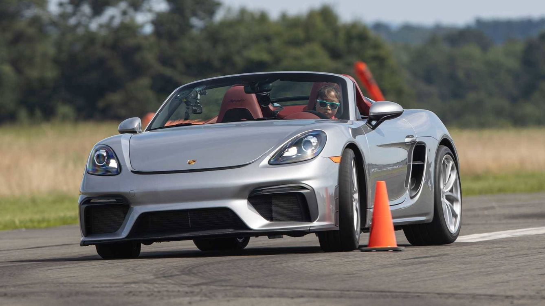 Foto: Chloe Chambers, en plena prueba. Foto: Porsche.