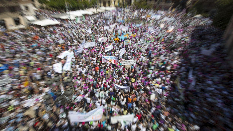 Manifestación en Valencia en mayo a favor de los centros educativos concertados convocada por organizaciones de enseñanza católica. (EFE)