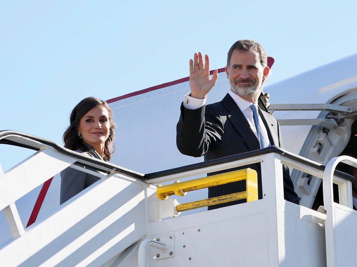 Foto: Doña Letizia y Felipe VI, en un viaje oficial a Marruecos. (Cordon Press)