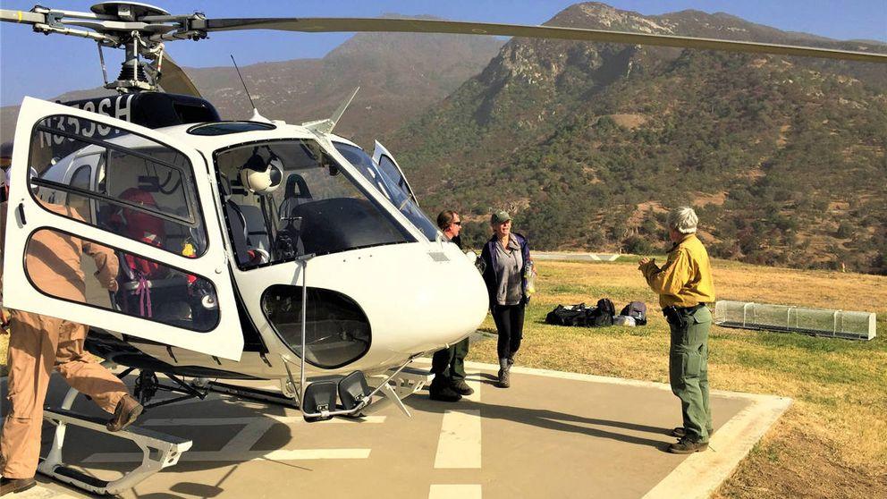 Una mujer perdida en las montañas salva su vida porque escribió SOS con piedras