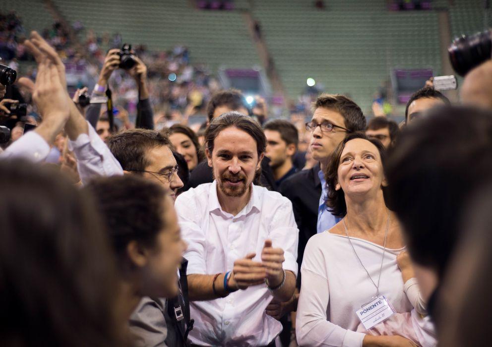 Foto: El secretario general de Podemos, Pablo Iglesias, durante la asamblea de Vistalegre (Daniel Muñoz)
