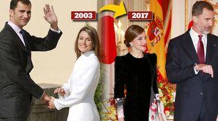 Letizia se enfunda un Armani catorce años después de su pedida