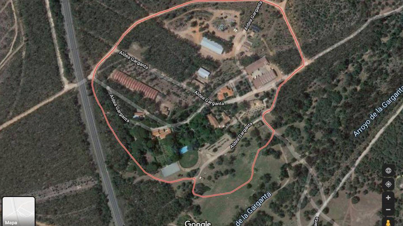 Vista aérea de la finca La Garganta. (Google)