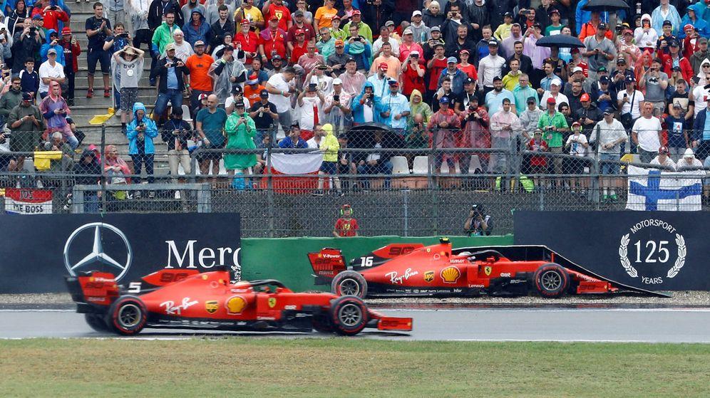 Foto: Leclerc acabó contra las protecciones y Vettel en el podio en una remontada espectacular. (Reuters)