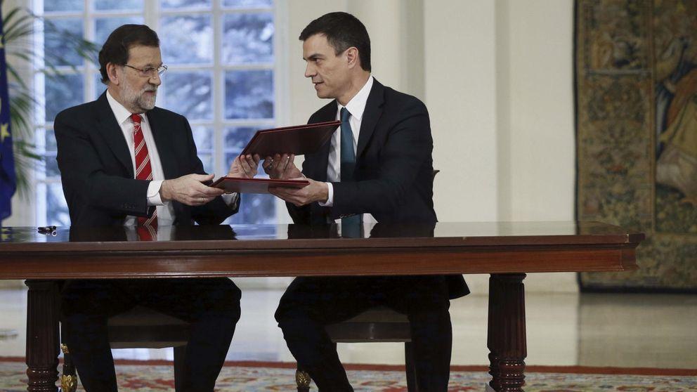 Primer 'cara a cara' entre Mariano Rajoy y Pedro Sánchez tras las elecciones del 24-M
