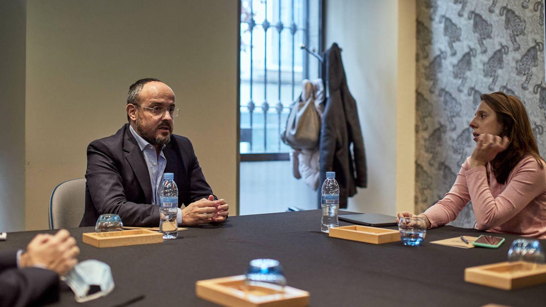 Alejandro Fernández reivindica al PP como única alternativa al separatismo y a Pedro Sánchez. (Jorge Álvaro Manzano)