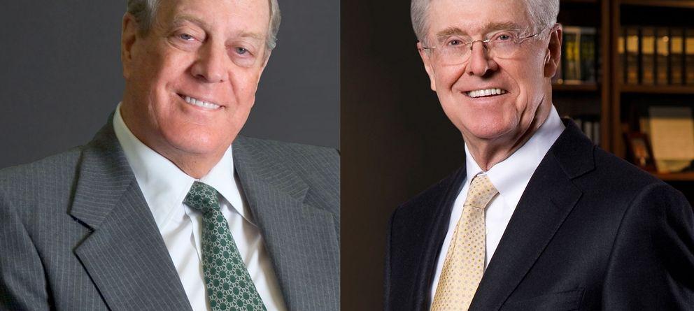 Foto: Los hermanos David y Charles Koch, los multimillonarios mecenas de la causa libertaria. (Reuters)