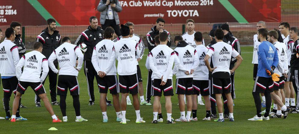 Foto: El Real Madrid entrenó el lunes en Rabat antes de viajar a Marrakech (EFE)