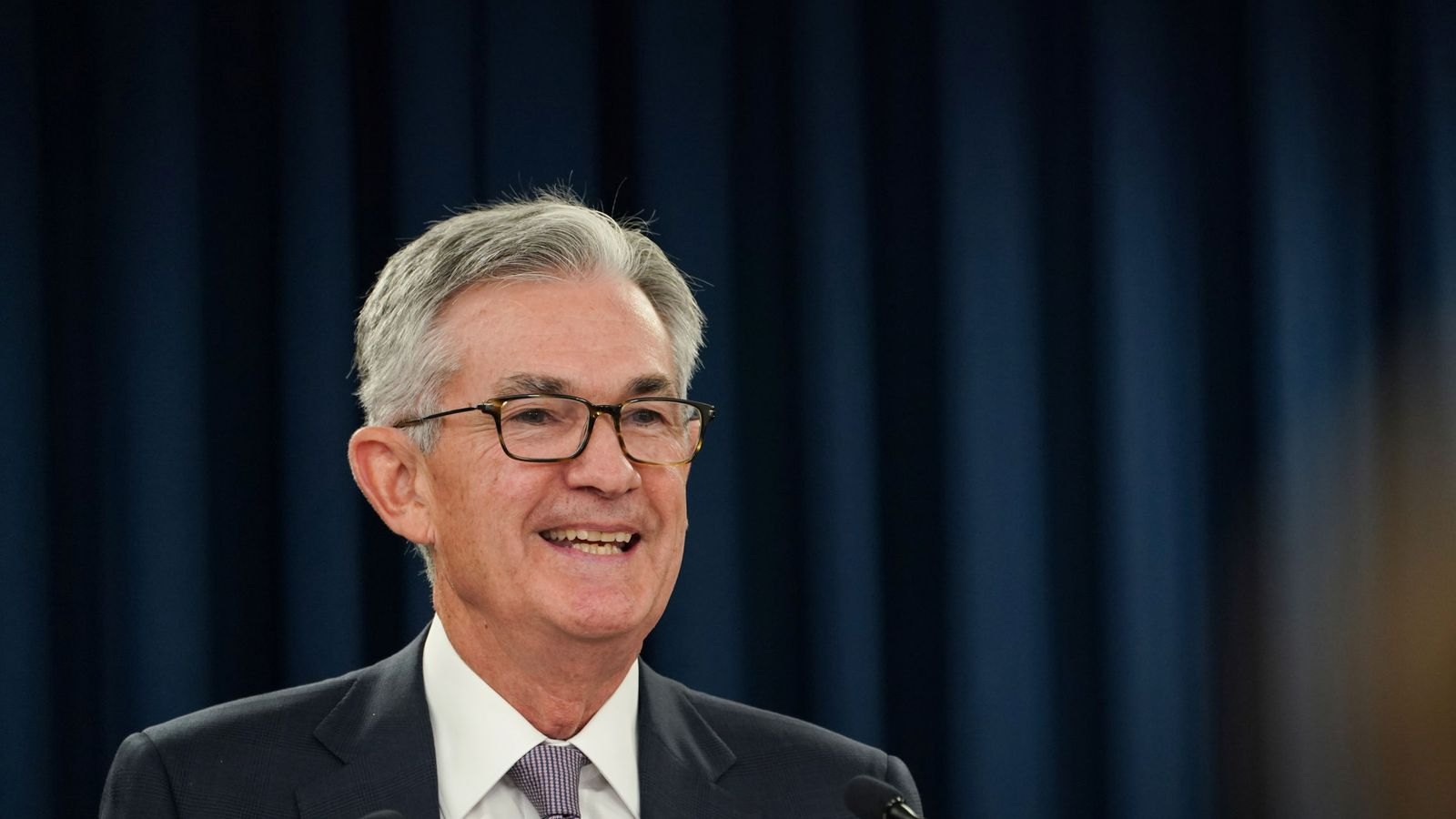 Foto: El presidente de la Fed, Jerome Powell, en Jackson Hole. (Reuters)