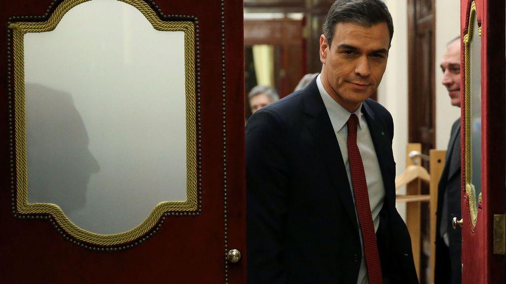 Foto: El presidente del Gobierno, Pedro Sánchez, en el Congreso de los Diputados, el miércoles. (EFE)