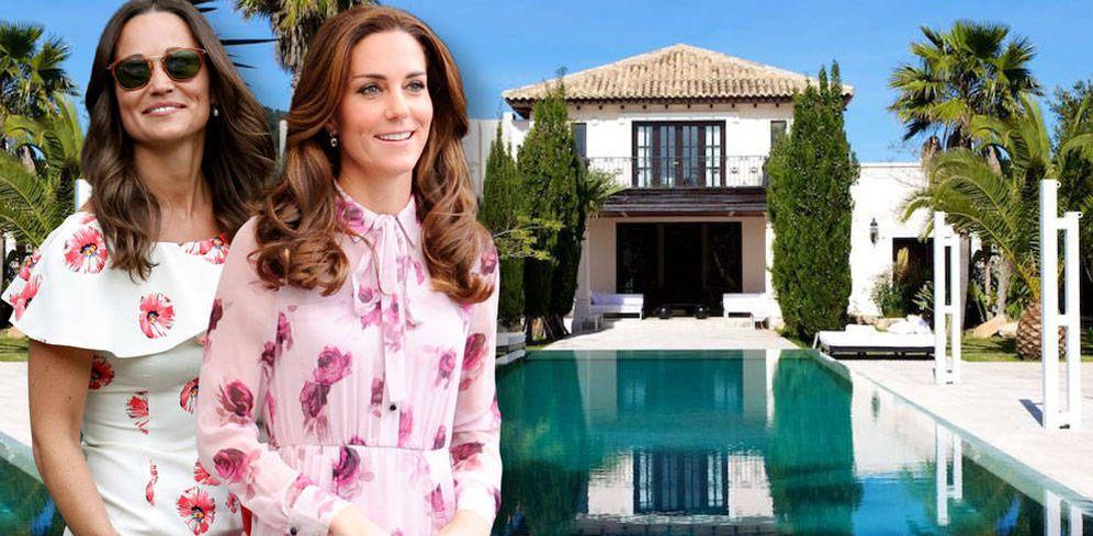 Foto: Las hermanas Middleton en la casa de Ibiza de su tío Gary. (Vanitatis)