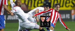 Atleti y Sevilla: buenas sensaciones con resultado insuficiente para ambos