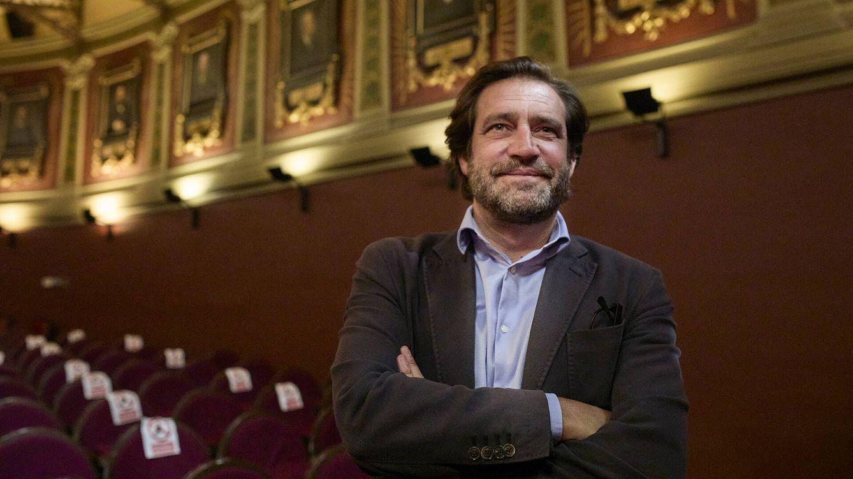 Foto: El presidente del Ateneo de Madrid, Luis Arroyo, durante la entrevista con EC. (J.H.)