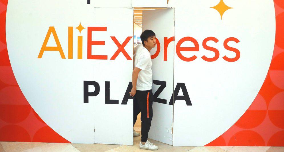 Foto: La primera tienda física de AliExpress en España (y Europa), días antes de su inauguración. (EFE)