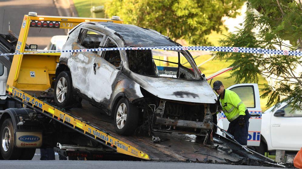 Foto: El vehículo incendiadio de Rowan Baxter. (Reuters)