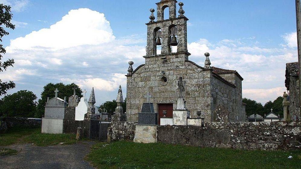 Foto: Iglesia parroquial de Vilapoupre, aldea lucense en la que no hay banda ancha.