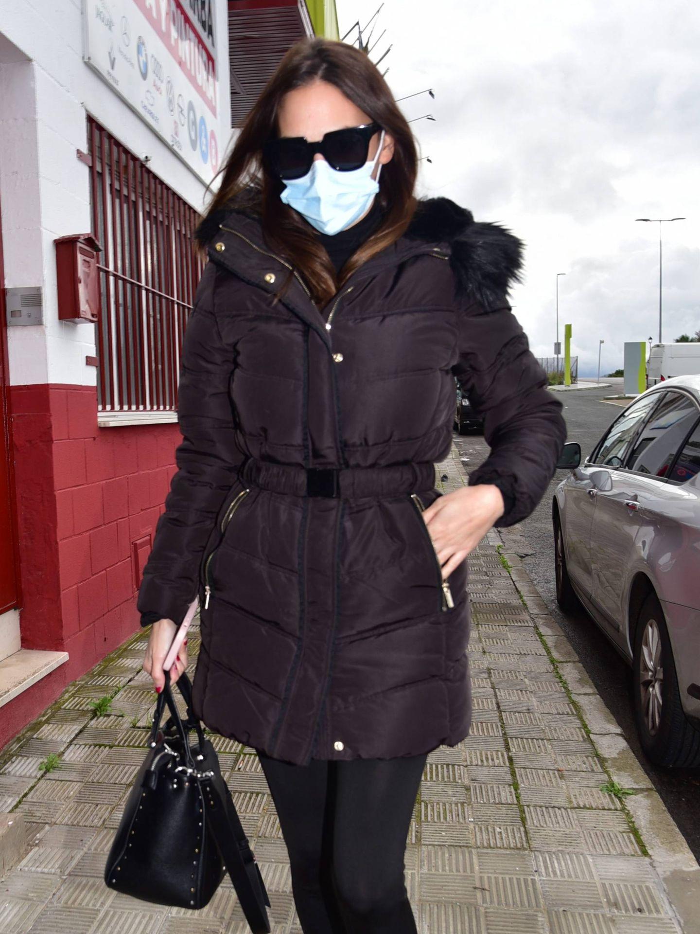 Irene Rosales llega al tanatorio. (Cordon Press)