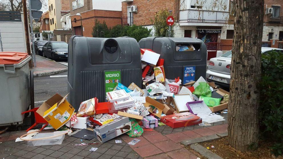 La basura inunda Madrid