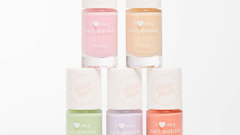 Esmaltes de uñas de Bershka. (Cortesía)
