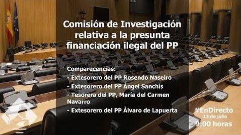 Tres tesoreros del PP comparecen en la comisión que investiga su financiación
