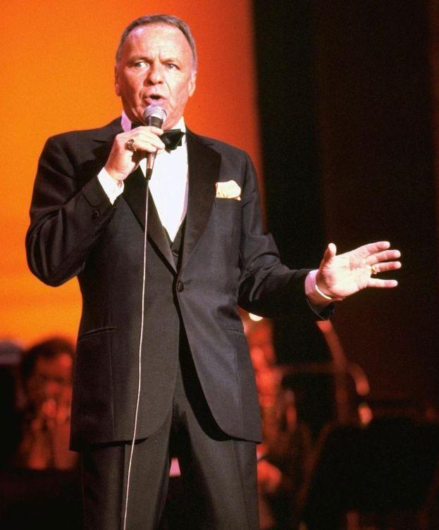 Foto: Frank Sinatra sobre el escenario