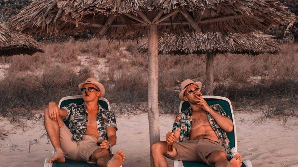 Foto: Imagen de dos 'instragramers' disfrutando en las playas de Cuba. (Instagram)