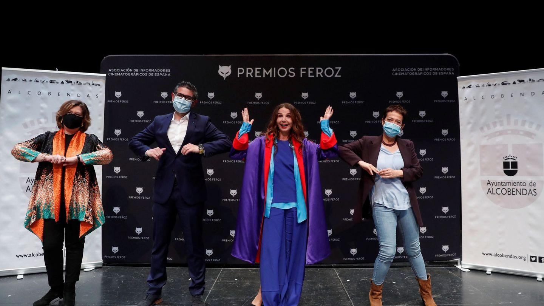 La actriz Victoria Abril, en la rueda de prensa convocada con motivo del Premio Feroz de Honor 2021. (EFE)