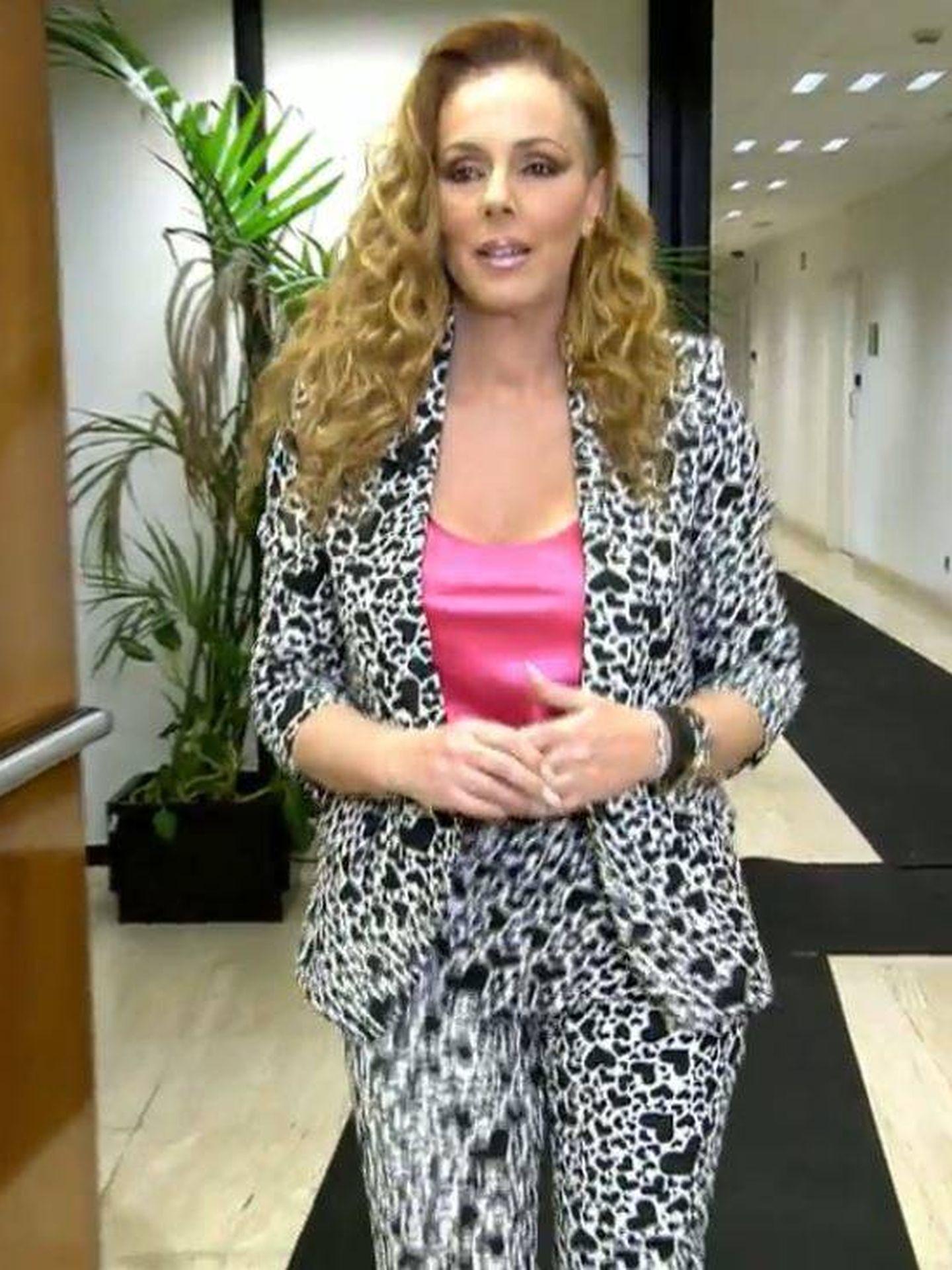 Rocío Carrasco llega al plató. (Telecinco)