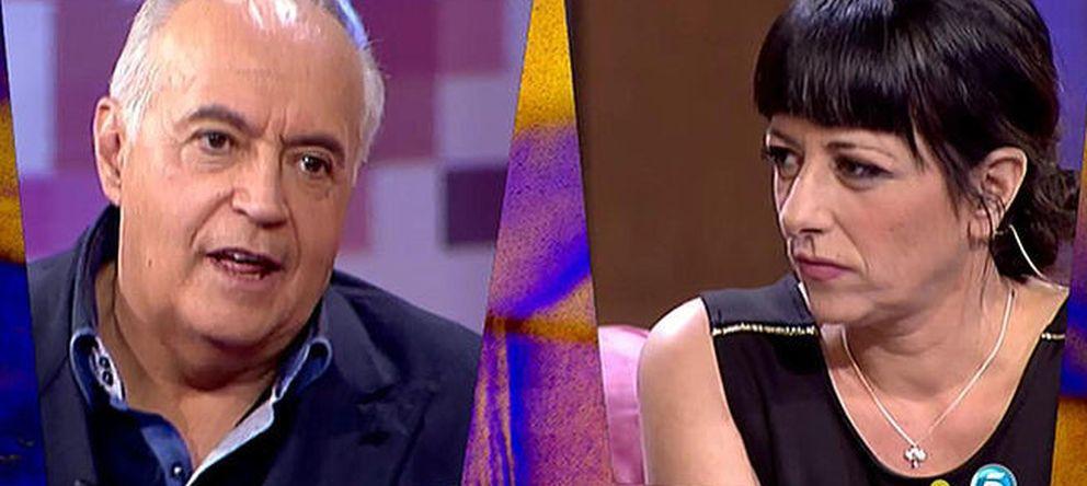 Foto: José Luis Moreno y Yolanda Ramos en un momento de la entrevista (Telecinco)