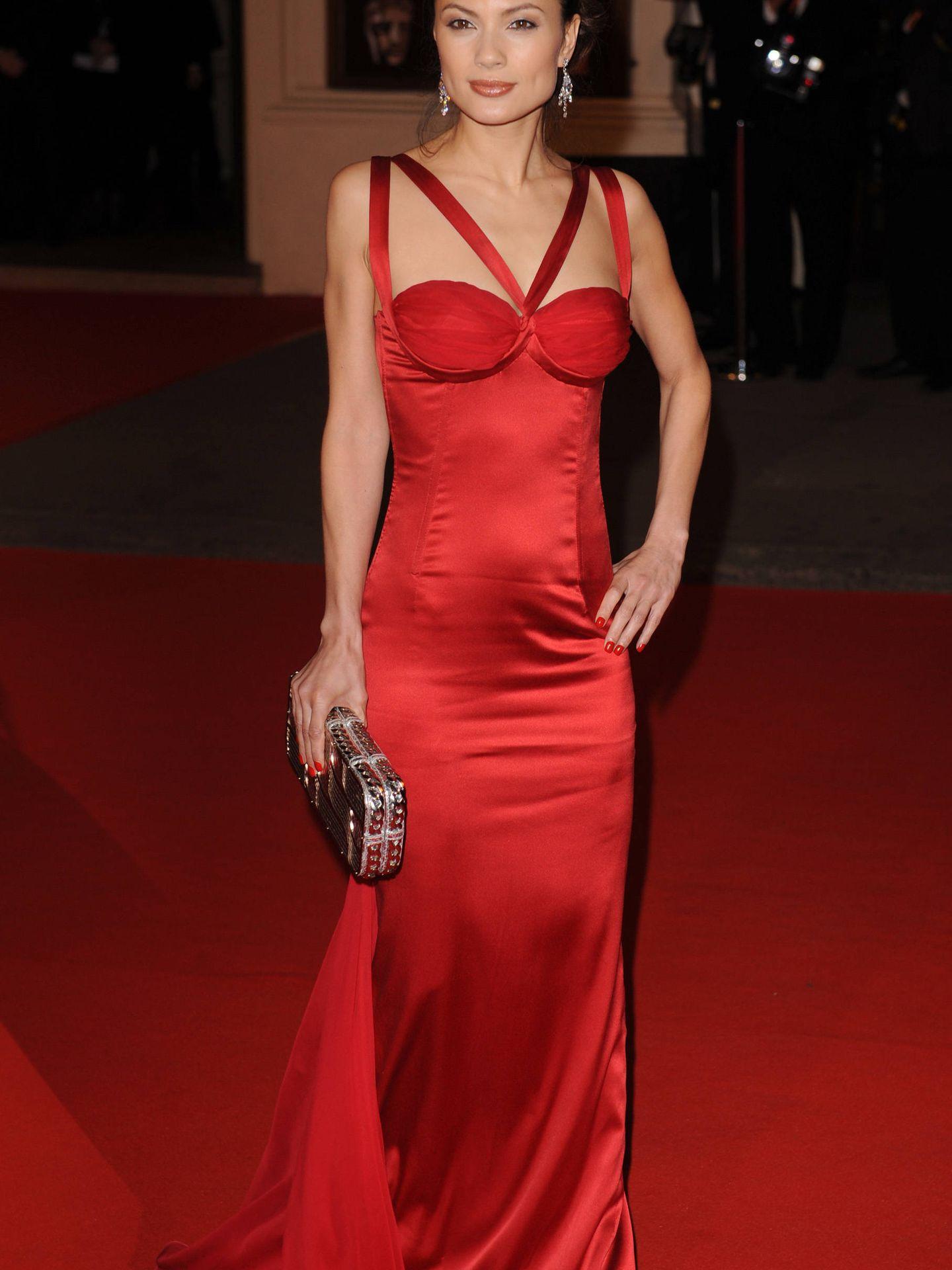 La actriz Natassia Malthe la noche en la que Weinstein supuestamente la violó. (Gtres)