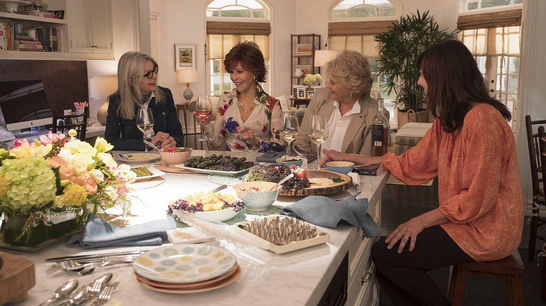 Diane Keaton, Jane Fonda, Candice Bergen y Mary Steenburgen en 'Book Club'.