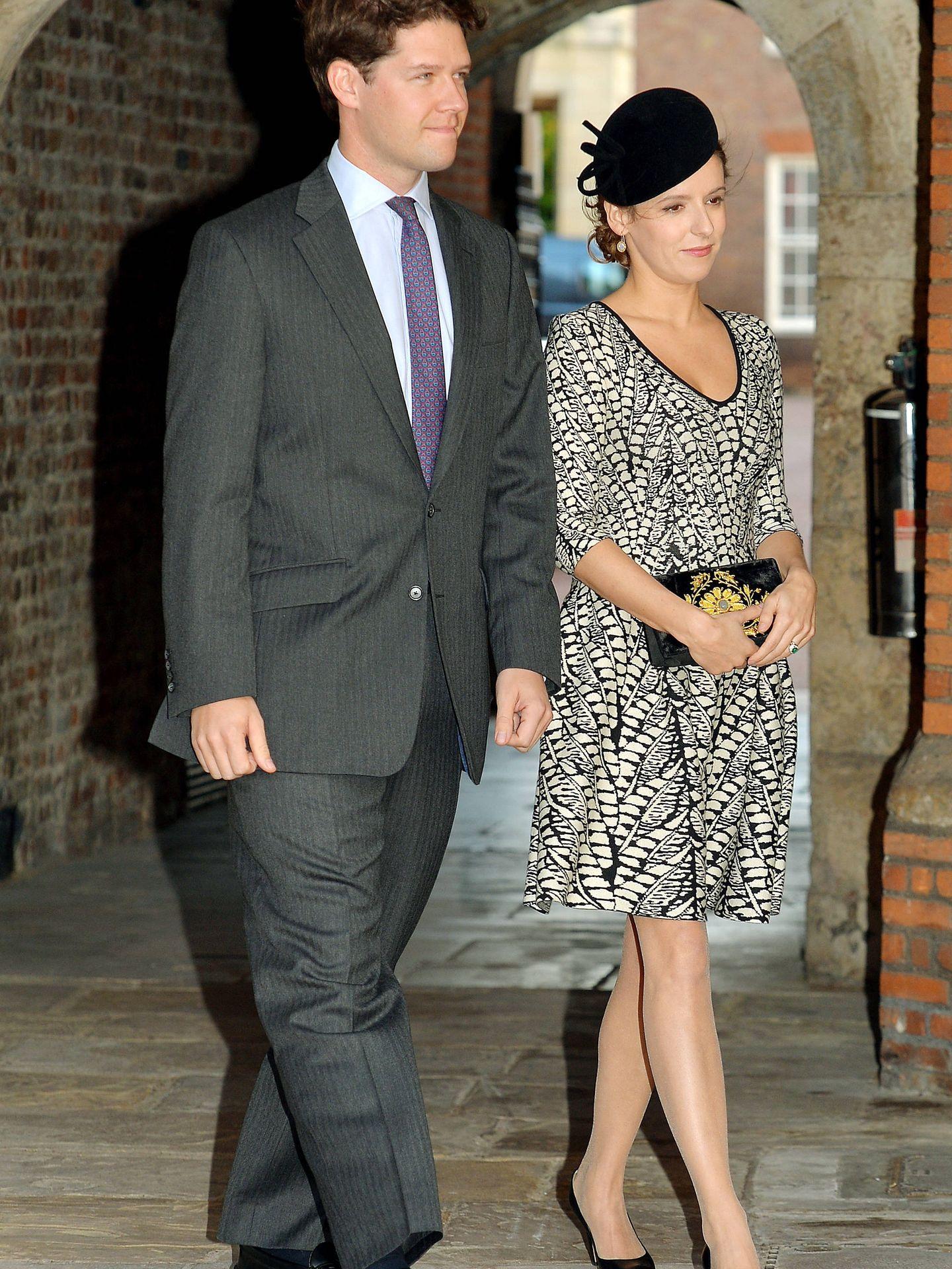 Emilia y David Jardine-Paterson en el bautizo del príncipe George. (Getty)