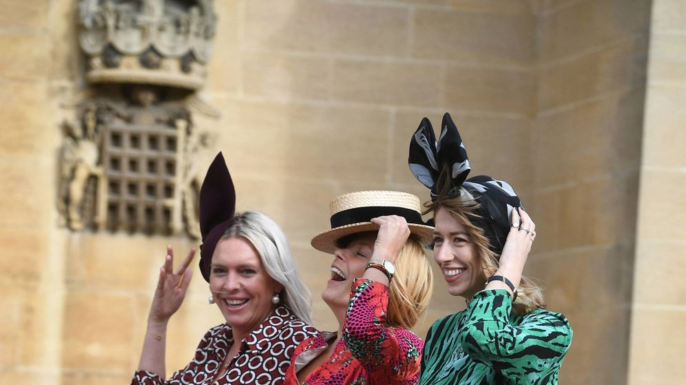 Foto: Invitadas a la boda de Eugenia de York. (Cordon Press)
