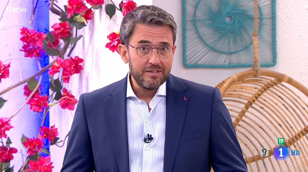 Foto: Máximo Huerta en TVE. (TVE)