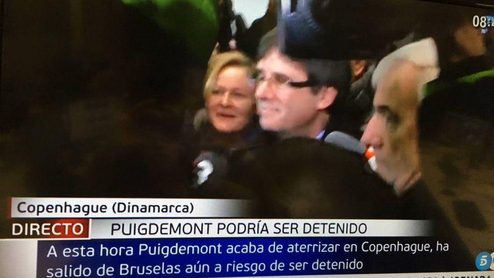 Así ha llegado Carles Puigdemont al aeropuerto de Copenhague