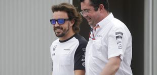 Post de Alonso se marchó  y Boullier se plantó: