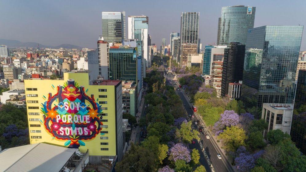 Foto: Murales hechos con pintura ecológica descontaminan la ciudad de México. (EFE)
