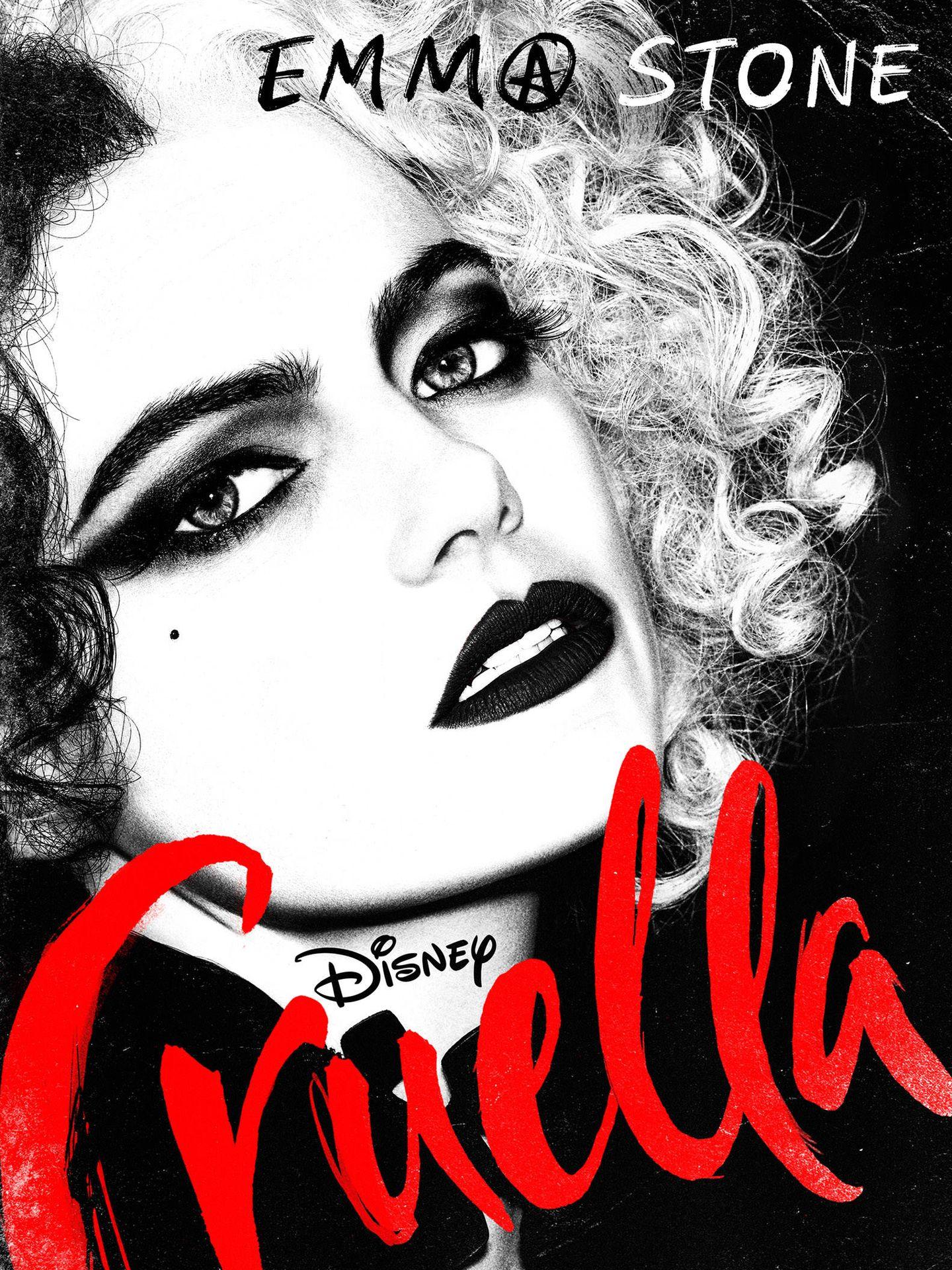 Emma Stone en 'Cruella'. (@DisneyStudios)