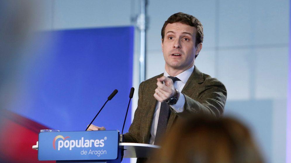 Foto: El presidente del PP, Pablo Casado, ha prometido una gran bajada de impuestos. (EFE)