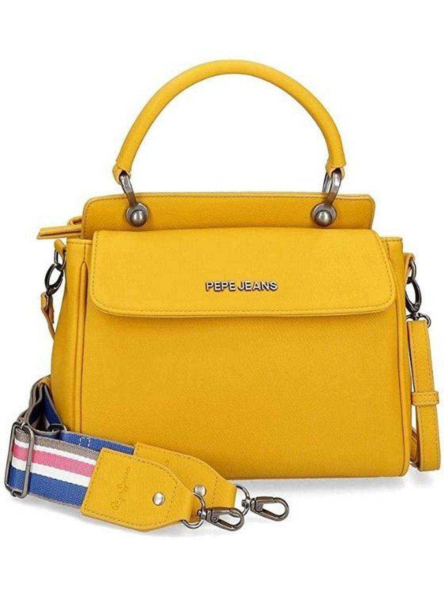 Bolso amarillo de Pepe Jeans. (Cortesía)