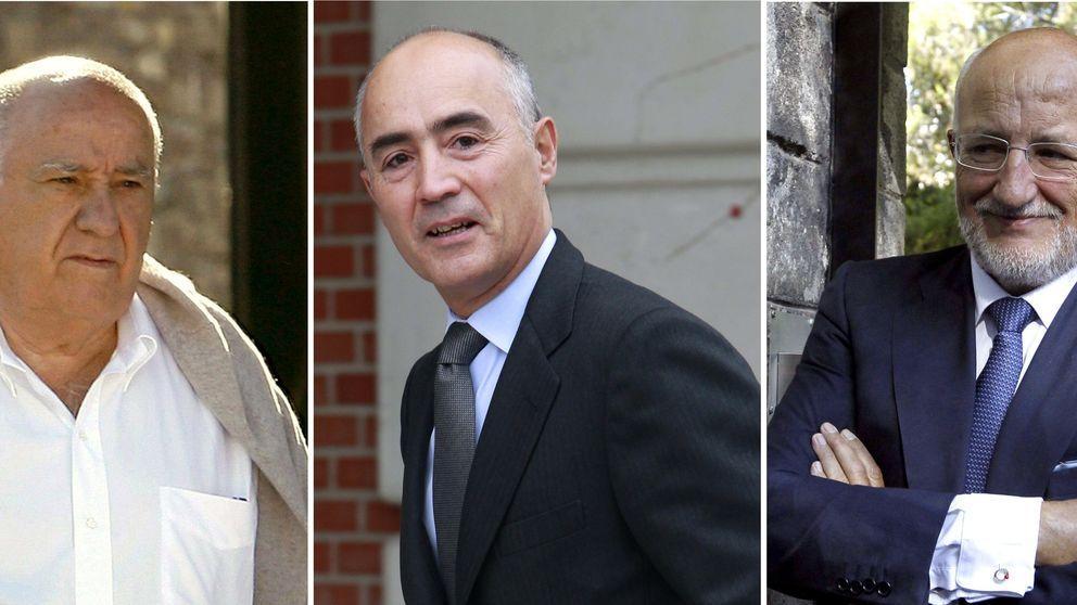 Ortega, Del Pino y Juan Roig, las tres mayores fortunas de España